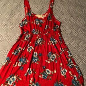 Dresses & Skirts - Forever 21 red floral sun dress
